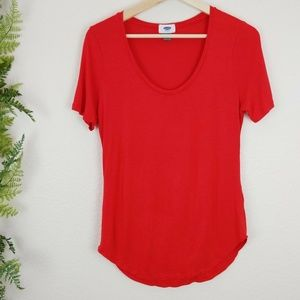 Old Navy T-Shirt Short Sleeve Tee Solid Coral S